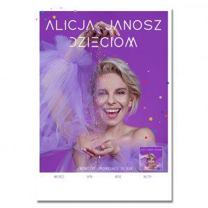 Alicja Janosz Dzieciom - Plakat z autografem (wym. 79cm x 55cm)